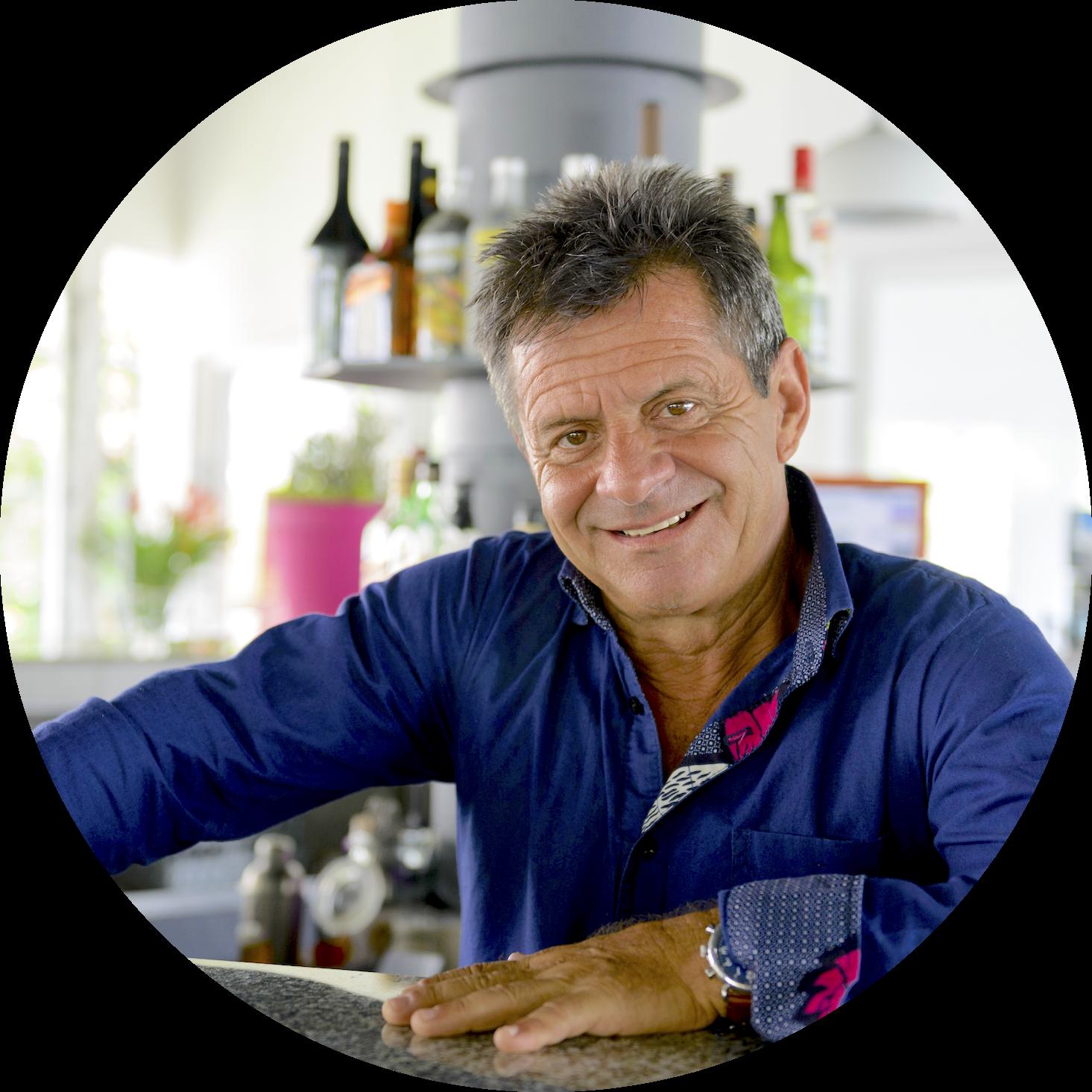 Alain Bellon, chef de l'Eden Restaurant de l'Hôtel du Parc de Port-Gentil